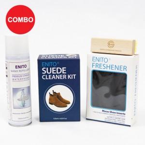 Perfect Care 3 Combo (1 Enito Nano Repellent 250ml + 1 Enito Suede Cleaner Kit + 1 Enito Standard Brush + 1 Enito Freshener)